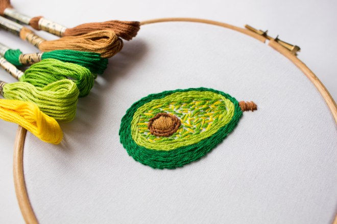 avocado-embroidery-stem-stitch-patch